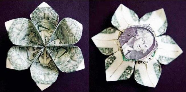 Money Origami: 10 Flowers to Fold Using a Dollar Bill One Dollar Bill Tricks