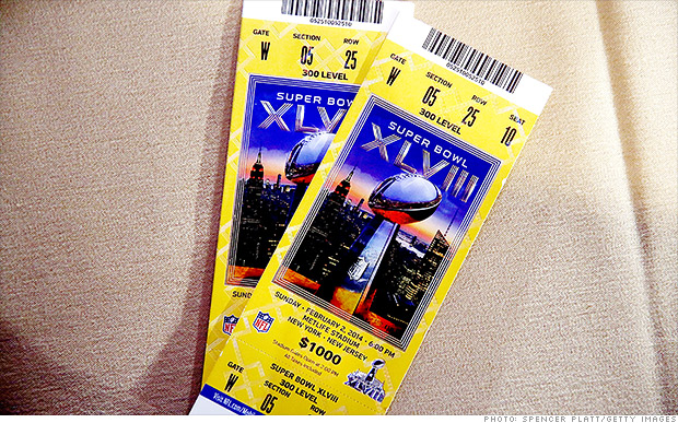 Super Bowl Tickets Rise with the Temperature in New York