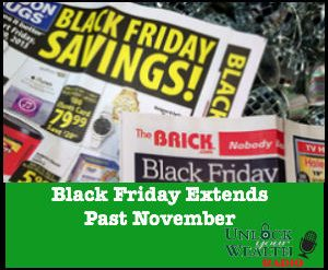 Black Friday Extends Past November
