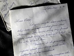 Marilyn Monroe letter from Joe DiMaggio