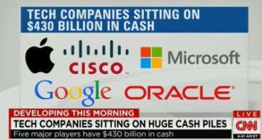 5 tech companies are sitting on $430 billion in cash