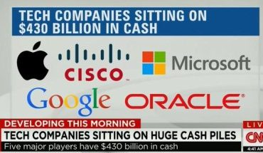 5 tech companies are sitting on $430 billion in cash
