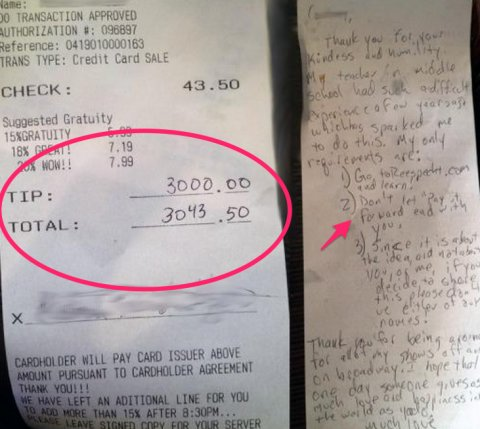 Pay It Forward with a big tip