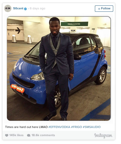 50 Cent Bankruptcy on Instagram